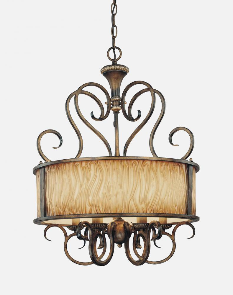Six light brown drum shade chandelier 966 243 statewide lighting six light brown drum shade chandelier aloadofball Gallery