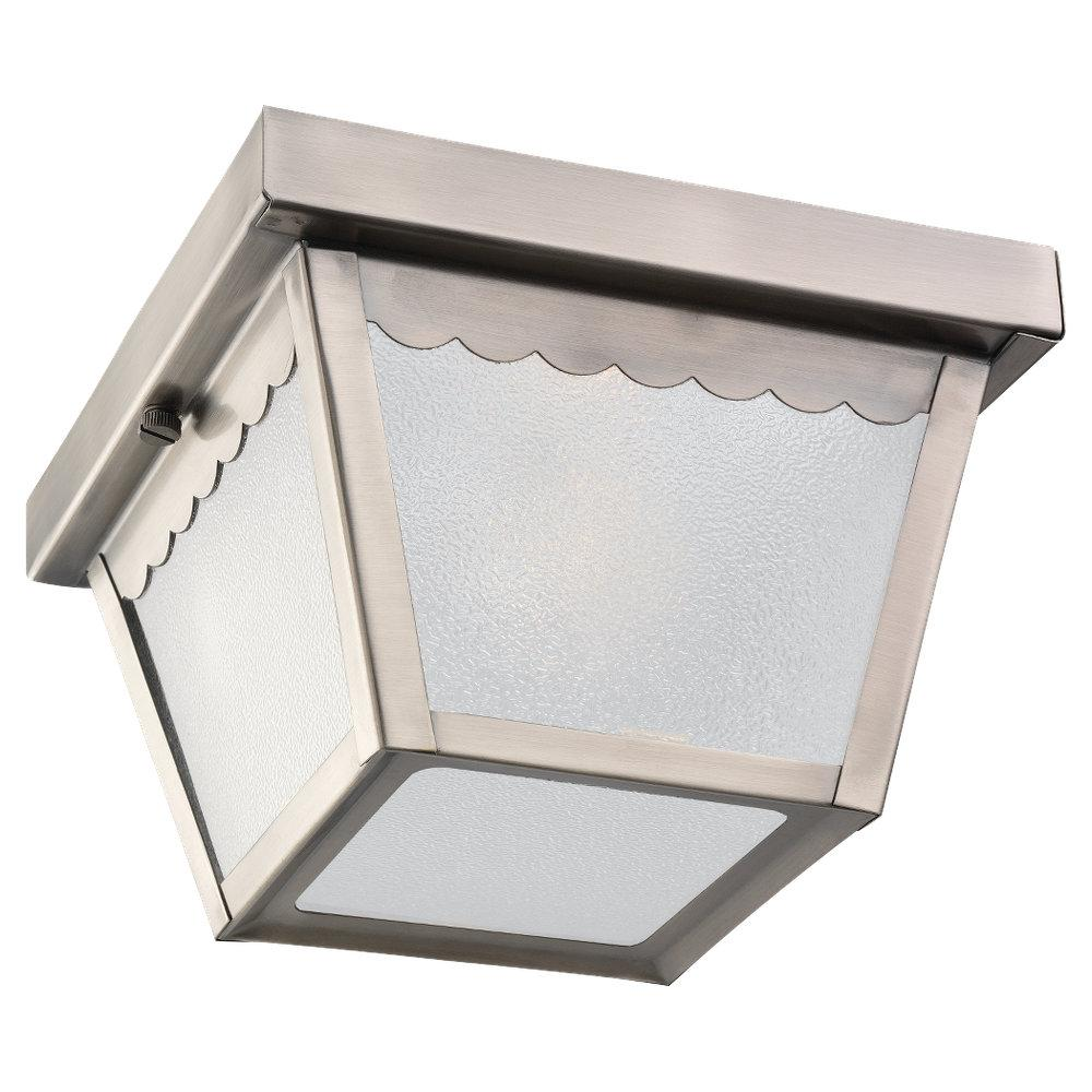 One Light Outdoor Ceiling Flush Mount