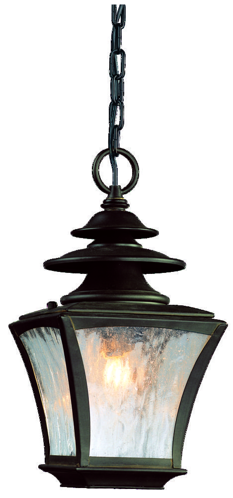 One Light Colonial Rust Hanging Lantern