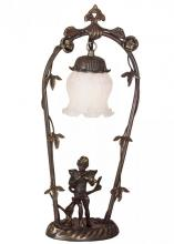 "Meyda Tiffany 12613 - 19""H Cherub with Violin Accent Lamp"